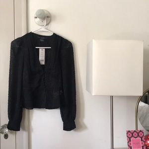 🆕 French connection black blouse long sleeves top